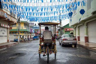 Bici-taxi in Tecun Uman, Guatemala. CA-4 Visa Renewal, Xela to Tapachula - GreatDistances