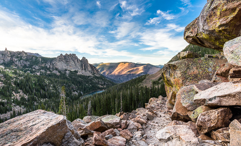 The trail above Odessa Lake. Rocky Mountain National Park. GreatDistances / Matt Wicks