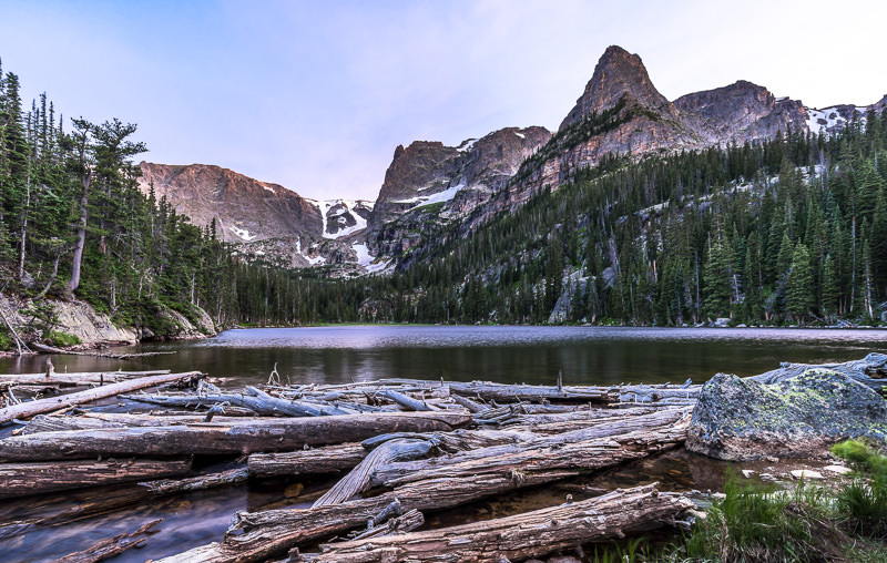 Odessa Lake at Sunset. Rocky Mountain National Park. GreatDistances / Matt Wicks