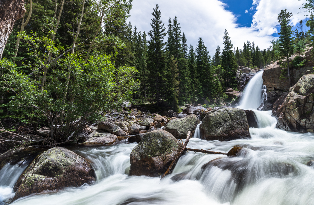 Alberta Falls, in Rocky Mountain National Park. GreatDistances / Matt Wicks