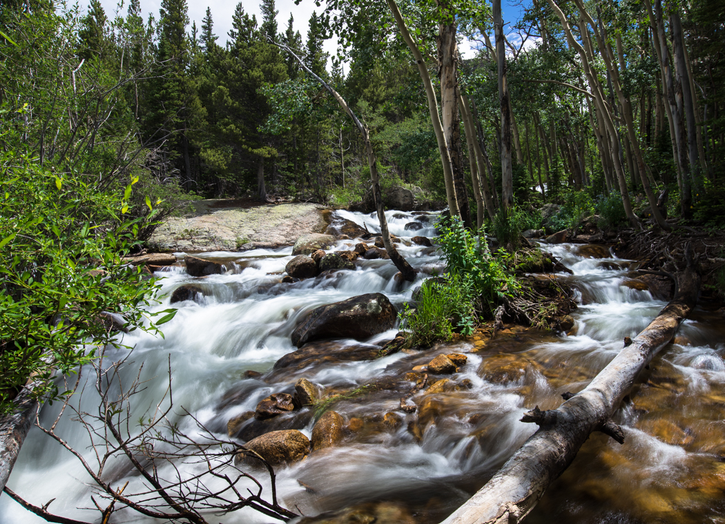 just upstream from Alberta Falls. Rocky Mountain National Park. GreatDistances / Matt Wicks