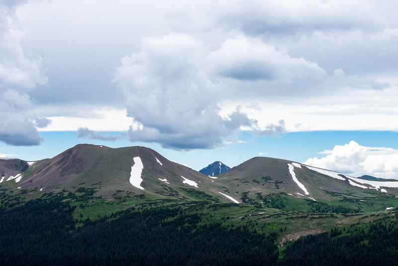 clouds over Rocky Mountain National Park. GreatDistances / Matt Wicks
