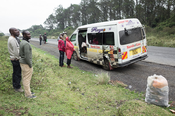 Our broken-down matatu.  GreatDistances / Matt Wicks