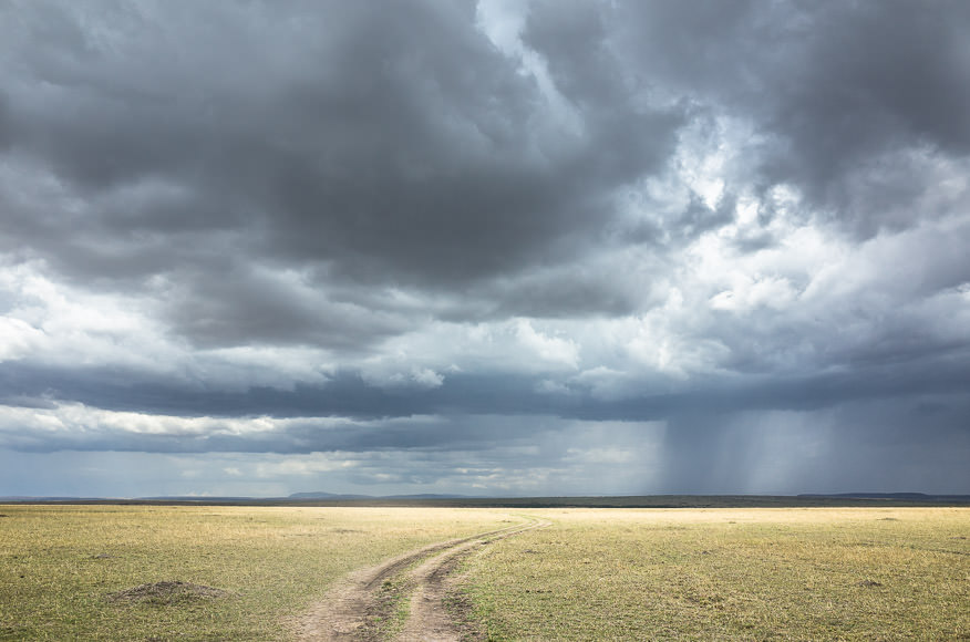 into the storm. downpours and dirt roads in Maasai Mara. GreatDistances / Matt Wicks
