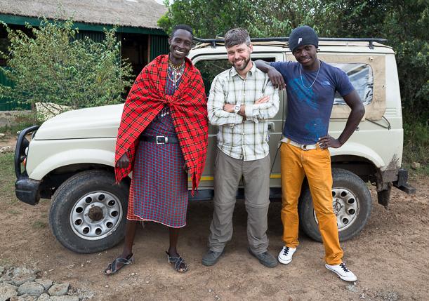 Maasai Mara game drive team and myself. GreatDistances / Matt Wicks