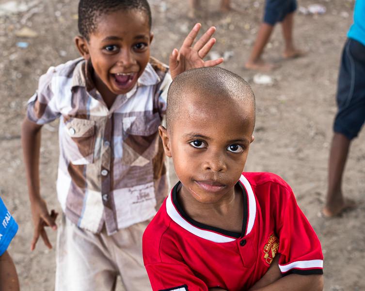 Boy acts cool for camera in Lamu, Kenya. GreatDistances / Matt Wicks