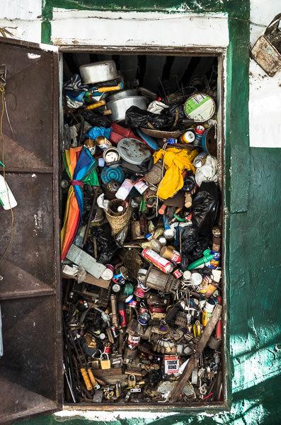 A jam-packed handiman's storage space in Lamu, Kenya. GreatDistances / Matt Wicks