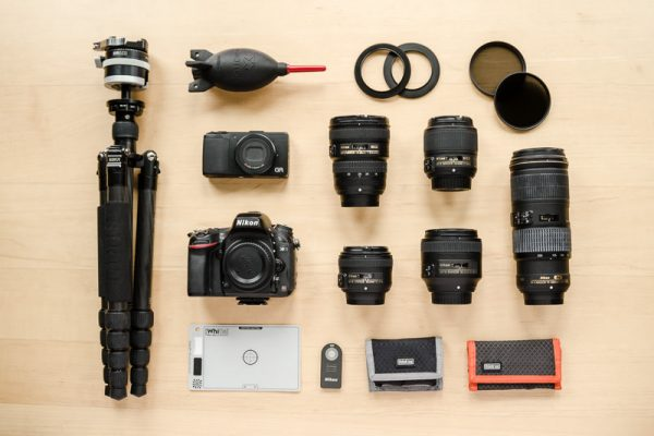 The camera gear I generally travel with. Photographing the Tribes of South Omo, Ethiopia - GreatDistances / Matt Wicks