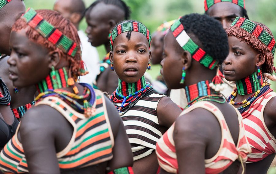 Young Hamer tribe women at a Bull Jumping Ceremony. South Omo Part 2 - GreatDistances / Matt Wicks