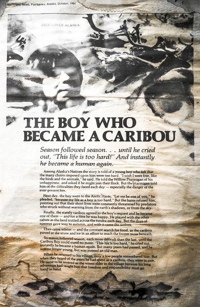 """The Boy Who Became A Caribou"" Alaskan folklore / legend. Tok, Alaska. GreatDistances / Matt Wicks - Two Weeks in Alaska: Selected Photos"