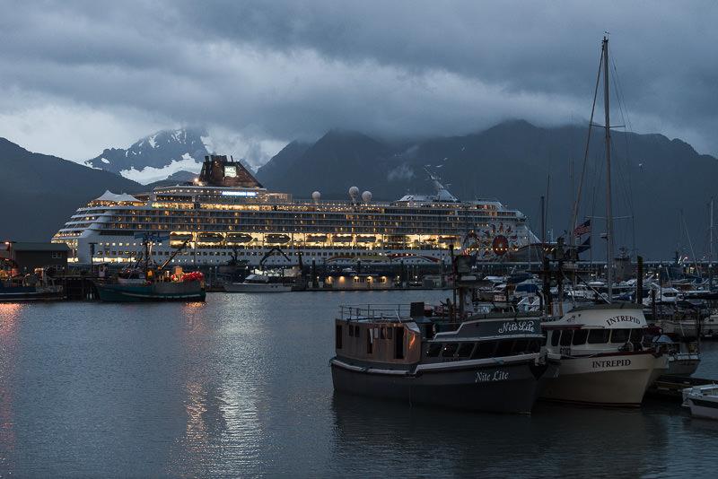 Norwegian Sun cruise ship in port in Seward, Alaska. GreatDistances / Matt Wicks - Two Weeks in Alaska: Selected Photos