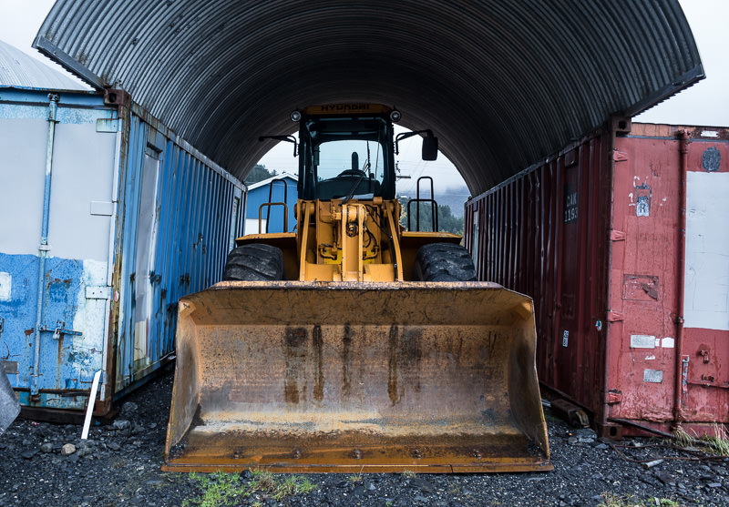 Bulldozer in Whittier, Alaska. GreatDistances / Matt Wicks - Two Weeks in Alaska: Selected Photos
