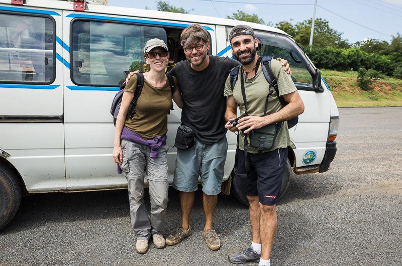 Travelers in front of a minibus in Turmi, South Omo, Ethiopia - How To Visit South Omo, Ethiopia (Omo Valley) - GreatDistances / Matt Wicks