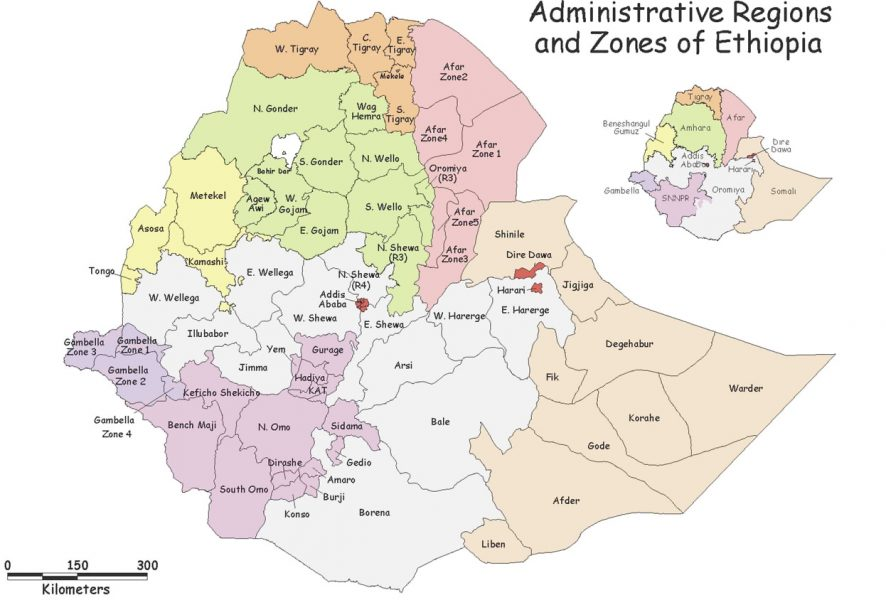 Map of regions and zones in Ethiopia. Used with permission from USAID/Ethiopia. How To Visit South Omo, Ethiopia (Omo Valley) - GreatDistances / Matt Wicks